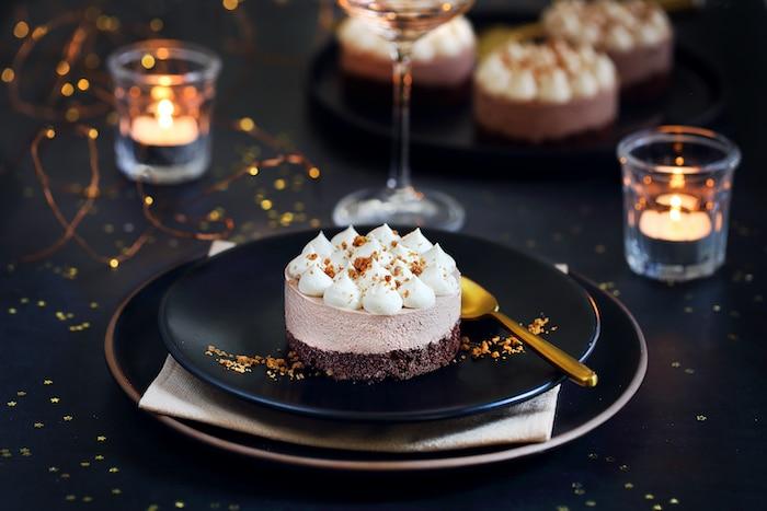 recette Entremets chocolat et spéculoos