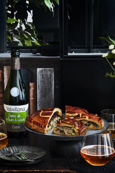 recette de Galette salée au foie gras