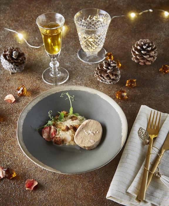 recette de Foie gras et espuma au cidre