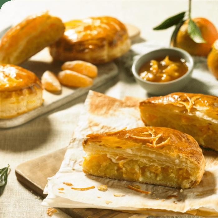 recette de galette aux amandes et clémentines