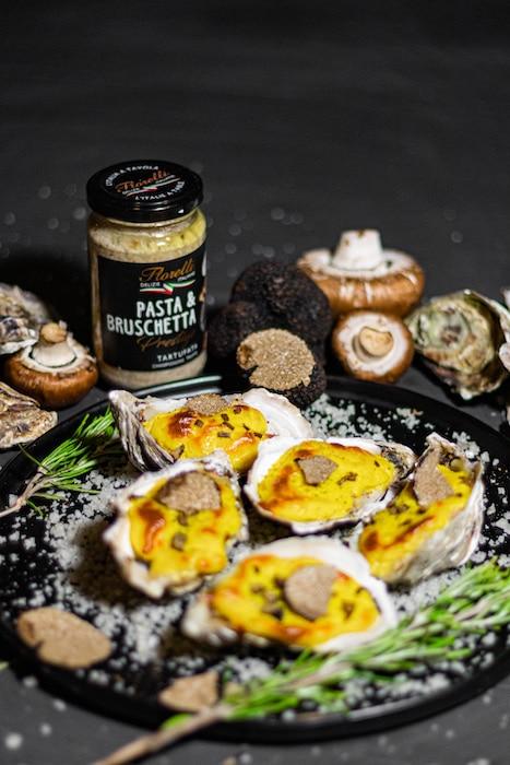 recette d'Huîtres gratinées à la Tartufata