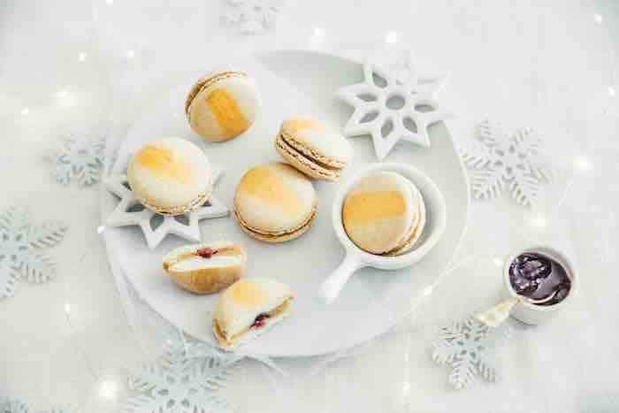 recetet de Macarons au foie gras et cerises