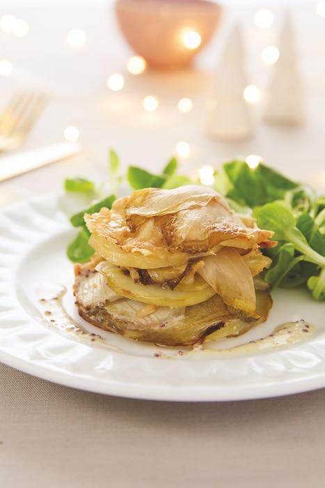 recette de Millefeuilles d'endives et de pommes de terre