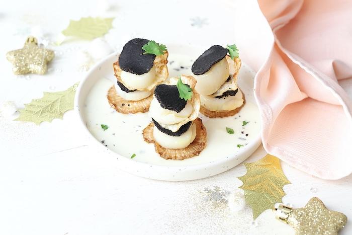 recette de Millefeuilles truffes et Saint-Jacques
