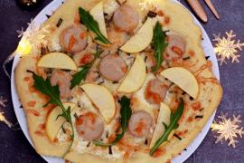 Pizza blanche à la pomme du Limousin