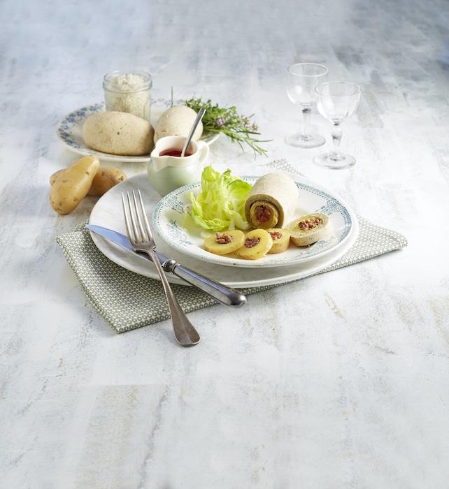 recette de Pompadour farcies en croûte de sel