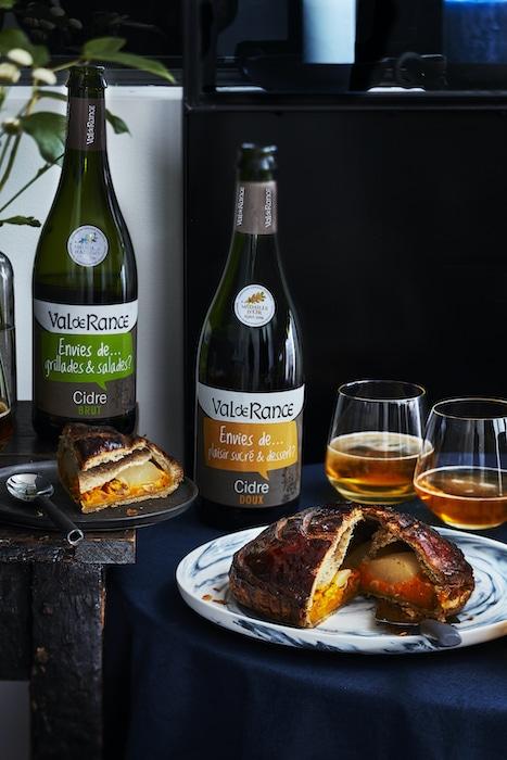 recette de Galette potimarron-poire et cacahuète