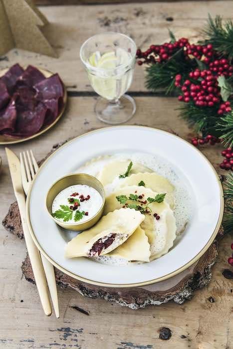 recette de Ravioles de langoustine et noix de bœuf