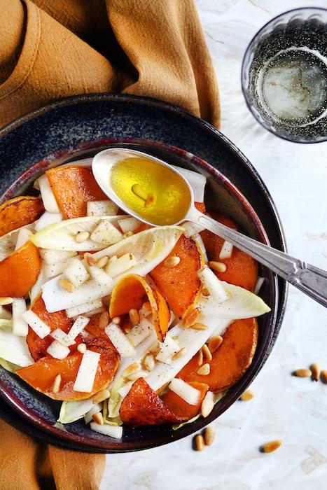 recette de Salade de courge butternut aux endives
