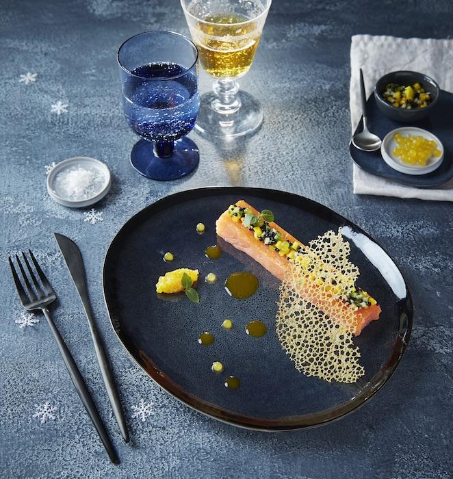 recette de Coeur de saumon fumé et agrumes