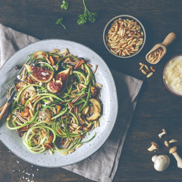 recette de Spaghettis aux courgettes