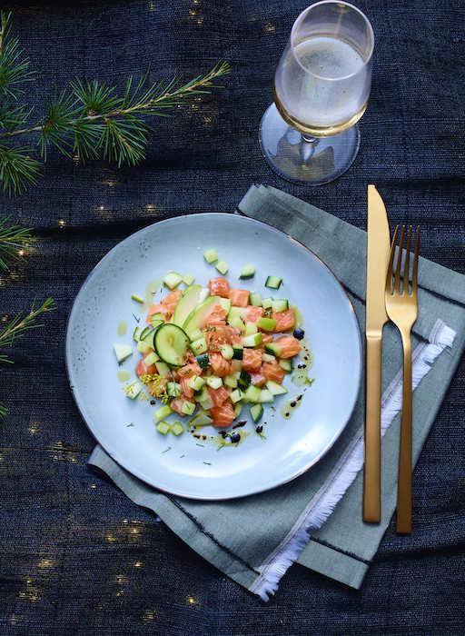 recette de Tartare de saumon à la pomme