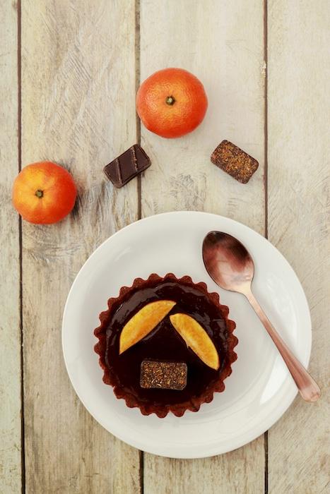 recette de Tartelettes au chocolat et à la clémentine