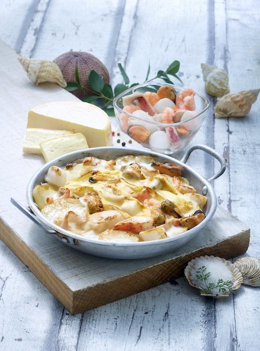 recette de Tartiflette aux fruits de mer
