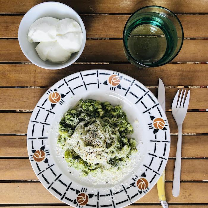 recette de Spaghetti aux brocolis crémeux