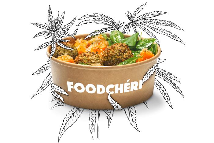 Le premier menu au chanvre arrive chez FoodChéri