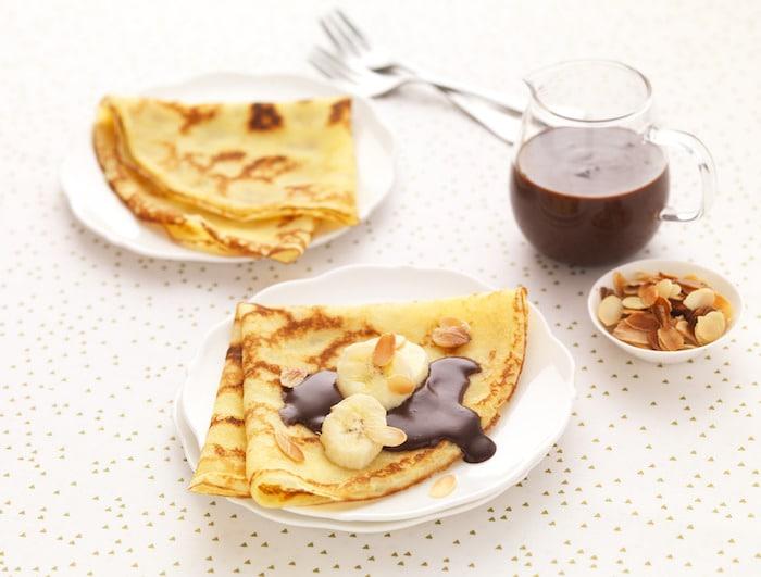 recette de Crêpes à la sauce chocolat