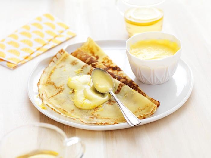 recette de Crêpes à la crème au citron