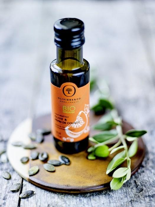 huile végétale bio olive et pépin de courge