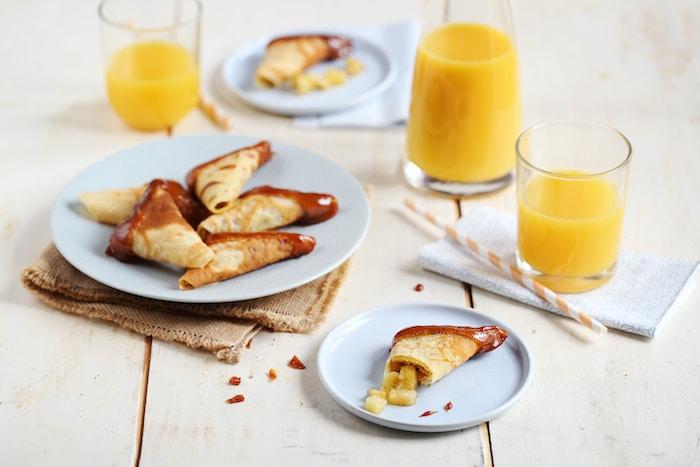recette de Samoussas de crêpes aux poires et vanille