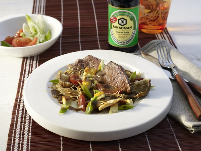 recette de Filet de boeuf aux légumes