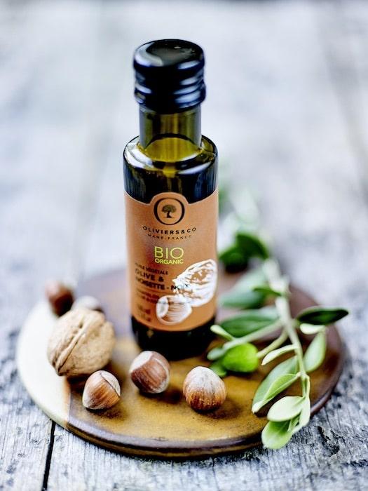 huile végétale bio olive et noisette