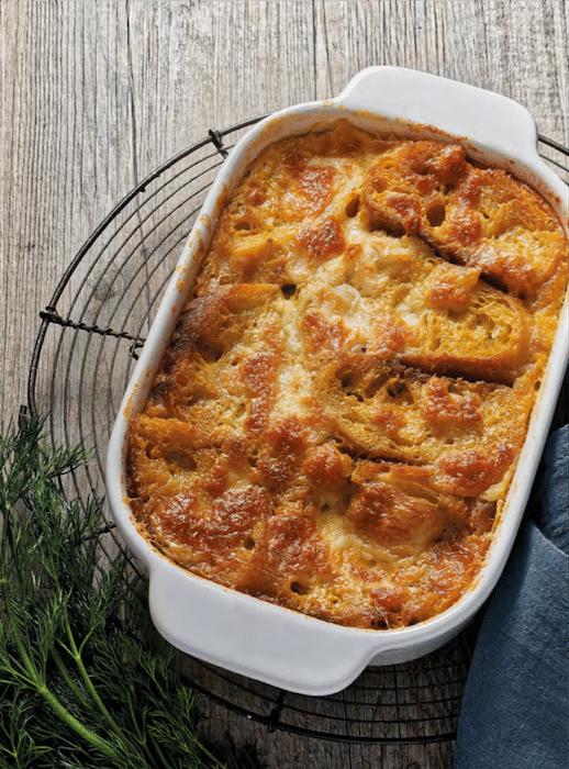 recette de Pudding de pain perdu à la mozzarella