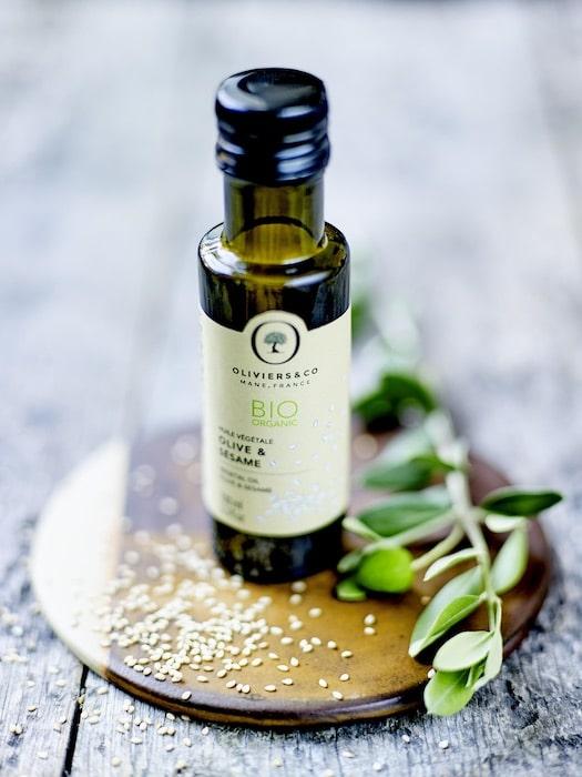 huile végétale bio olive et sésame