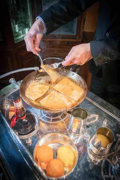 la recette des crêpes Suzette