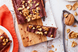 Tarte choco-caramel aux noix