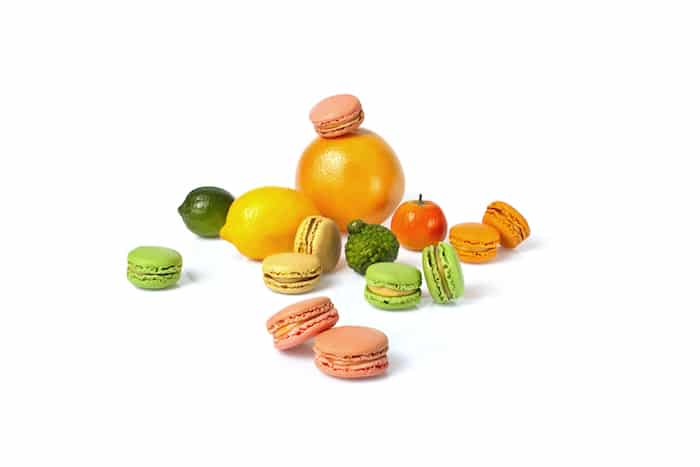 macarons aux agrumes