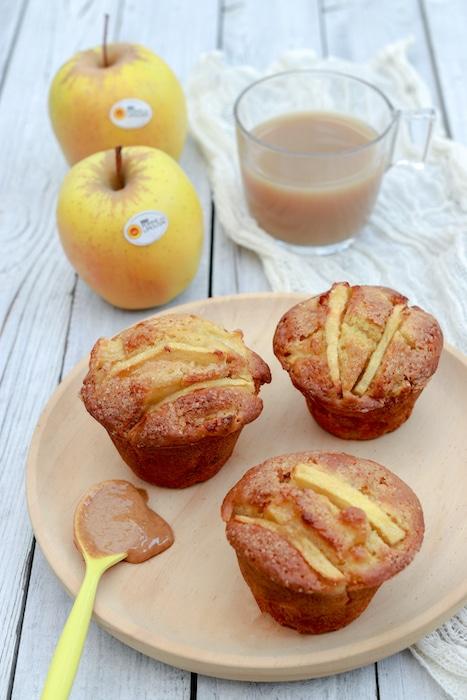 recette de Muffins aux pommes et beurre de cacahuète