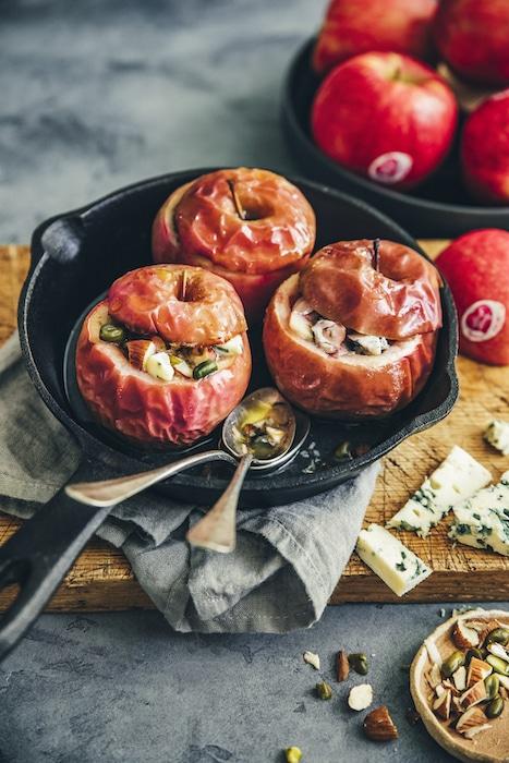 recette de Pommes farcies aux fruits secs
