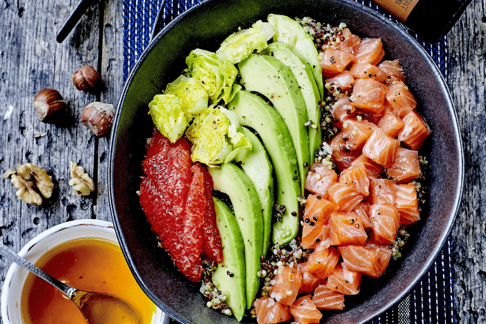 Poke saumon avocat pamplemousse, frais et léger - Kiss My Chef