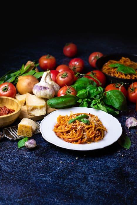 recette de Spaghetti Guitare à la Puttanesca