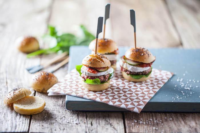 recette de Mini burgers au chèvre