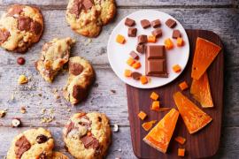 Cookies noisettes praliné et mimolette