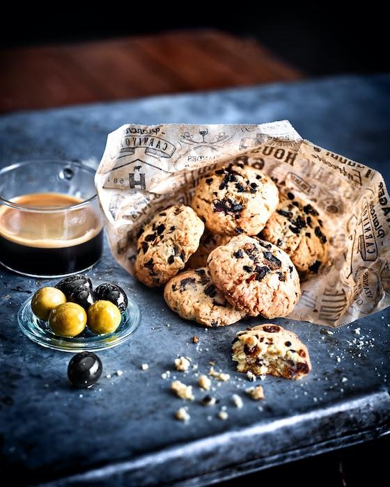 recette de Cookies au chocolat et aux olives