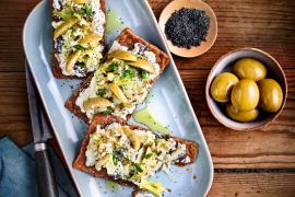 Feuilletés minute aux olives