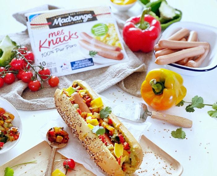 recette de Hot Dog façon Salsa