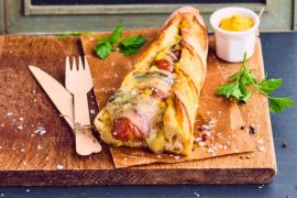 Hot dog à la saucisse de Montbéliard