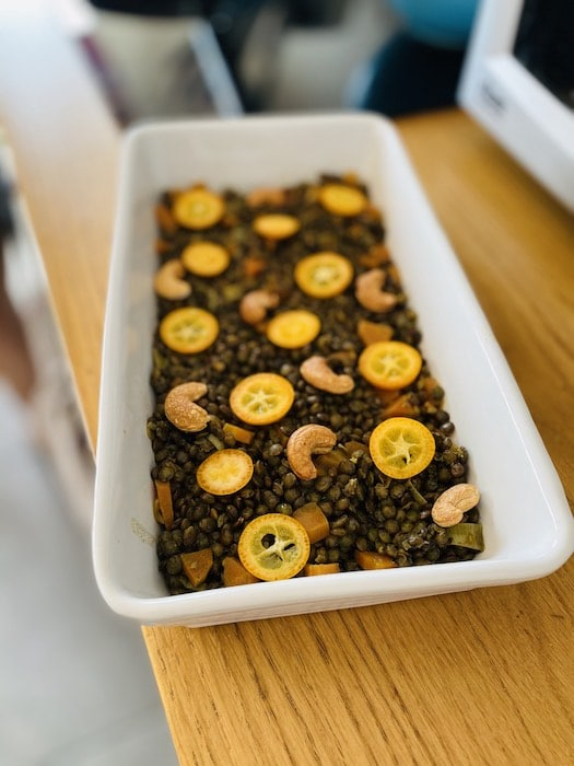 recette de Lentilles aux noix de cajou