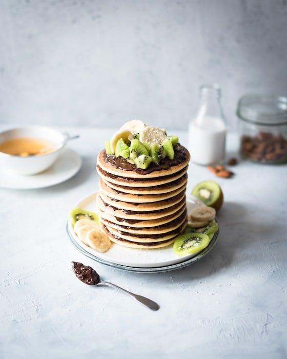 recette de Pancakes au lait d'amandes