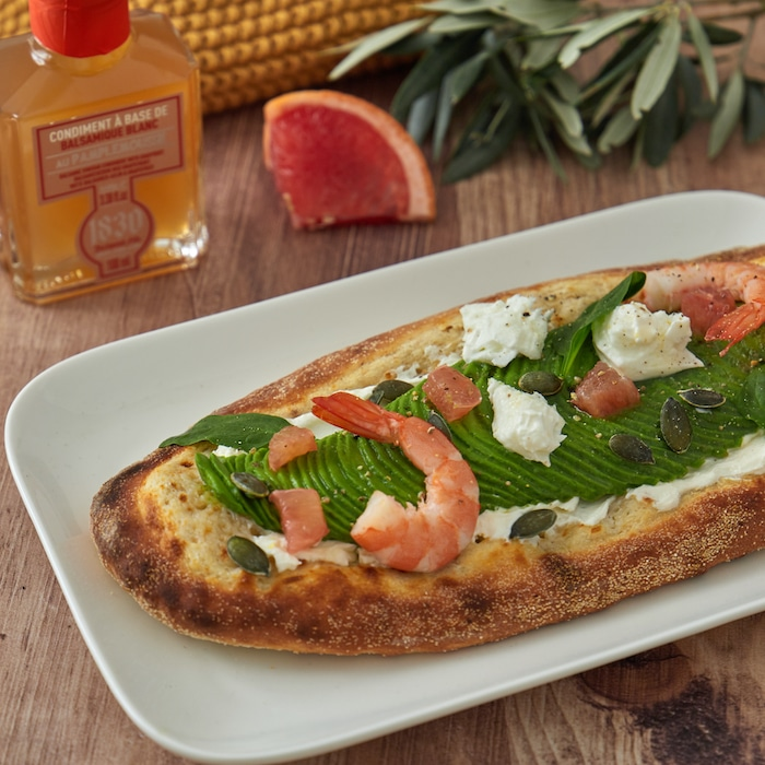 recette de Pizzetta blanche à l'avocat
