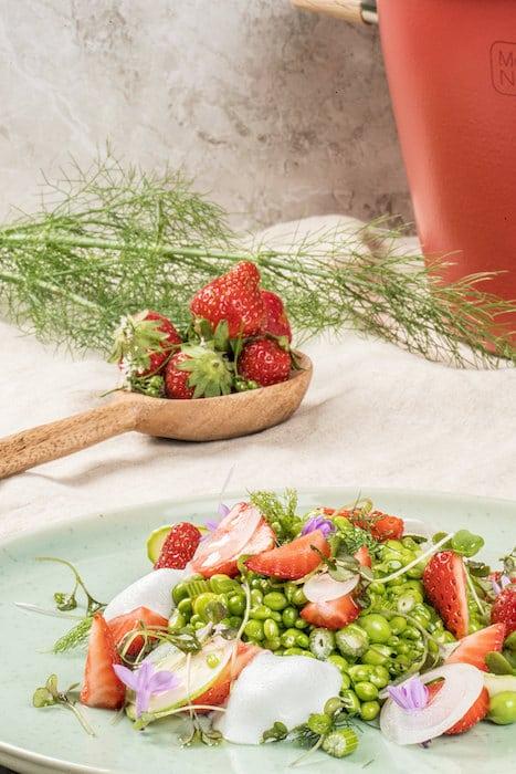 recette de Petits pois aux herbes
