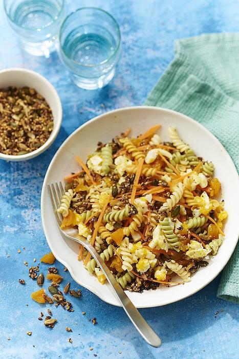 recette de Salade de Torsettes aux abricots secs