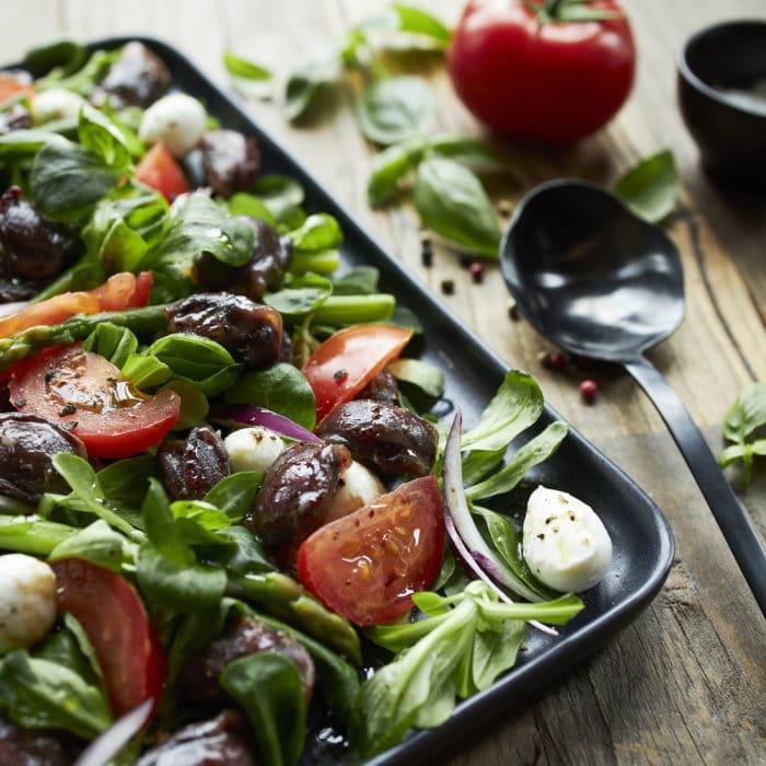 recette de Salade aux gésiers de canard confits