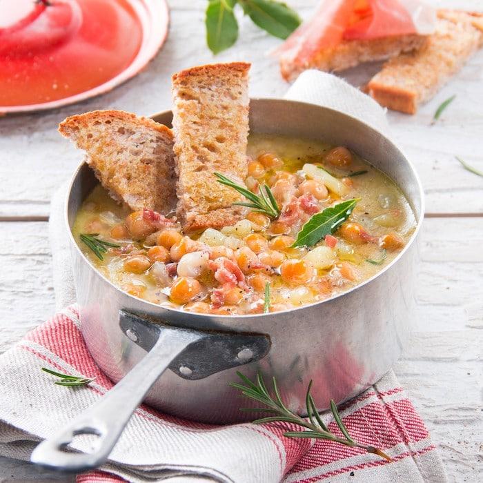 recette de Soupe de pois chiches au Parme