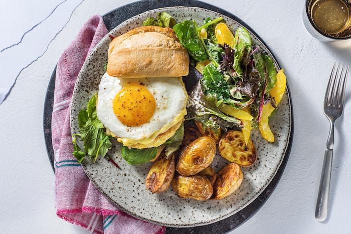recette de Burger végétarien à l'oeuf