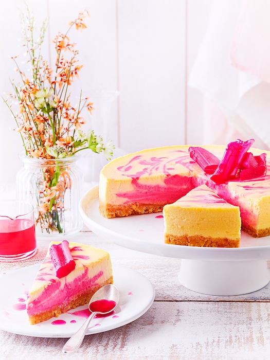 recette de Cheesecake à la rhubarbe